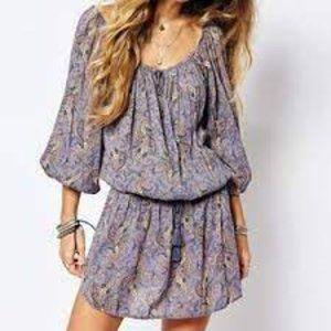 Denim & Supply Paisley Print Drop Waist Dress S